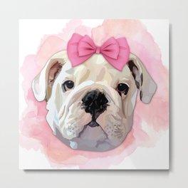 Cute Bulldog Metal Print