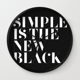 Simple is the new black Wall Clock