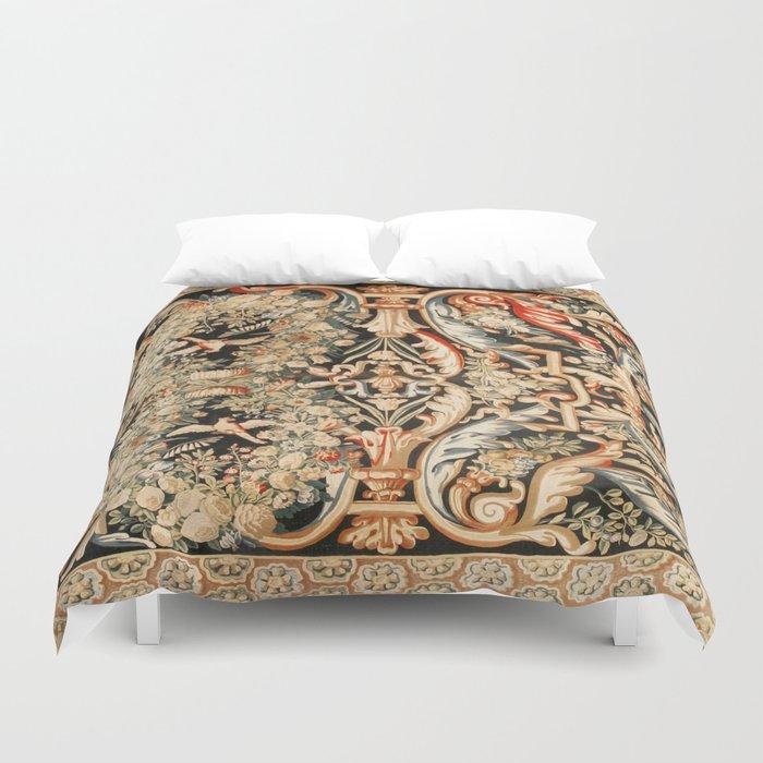 Antique French Gobelins Aubusson Tapestry Print Bettbezug