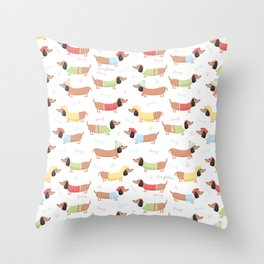 Cute Bassotti Throw Pillow