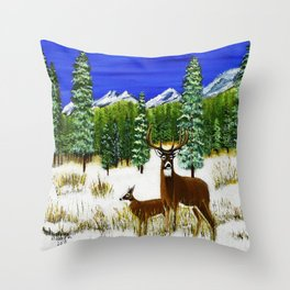 Beginning of winter Throw Pillow