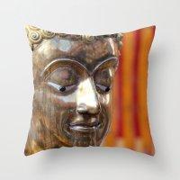 thailand Throw Pillows featuring Thailand Buddha  by Maria Faith Garcia