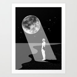 The moon knows me Art Print