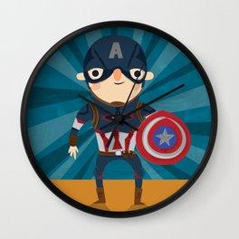 cap'n America Wall Clock