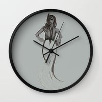 depeche mode Wall Clocks featuring Mode by Pagan