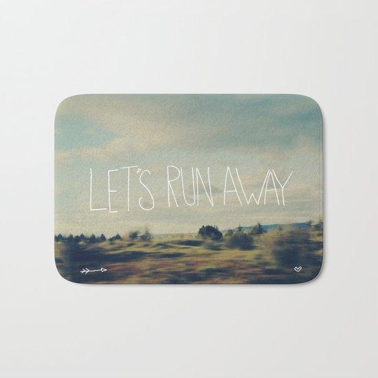 Let's Run Away Bath Mat