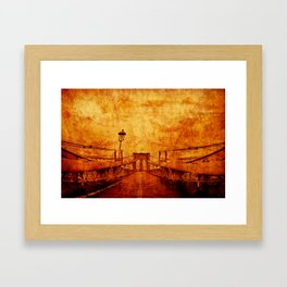 Brooklyn Burning Framed Art Print