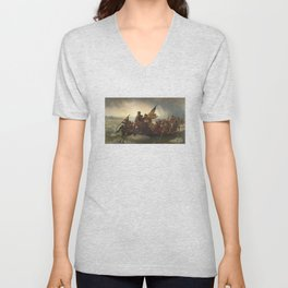 Washington Crossing The Delaware Unisex V-Neck