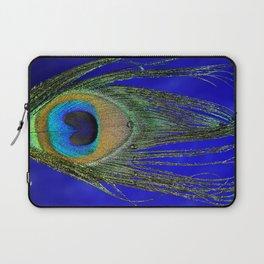 Peacock Feather Macro Laptop Sleeve