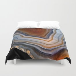 Layered agate geode 3163 Duvet Cover