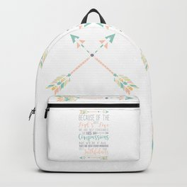 Handwritten Pastels Lamentations 3:22-23 Bible Verse Backpack