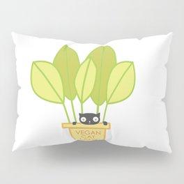 VEGAN CAT PLANT LADY Pillow Sham