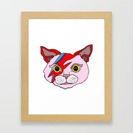 Heroes Cat Head Framed Art Print
