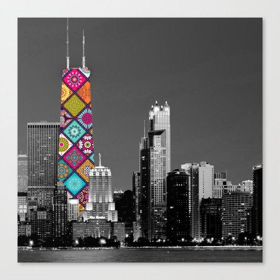 Funky Landmark - Chicago Canvas Print