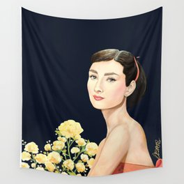 les temps doux  Audrey Wall Tapestry