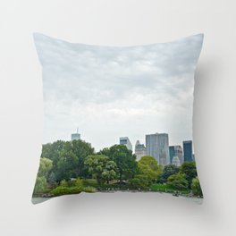 Sunday morning in Central Park NYC Throw Pillow