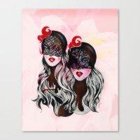 gemini Canvas Prints featuring Gemini by Felicia Cirstea
