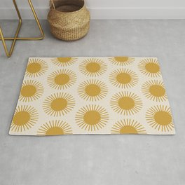 Golden Sun Pattern Rug