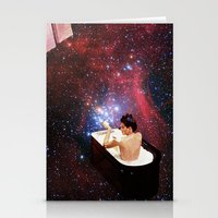 bath Stationery Cards featuring Bubble Bath by Eugenia Loli