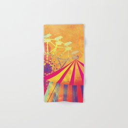The Fair is in Town - Kitschy Abstract Watercolor Hand & Bath Towel