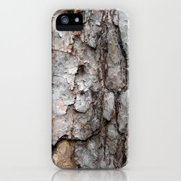 Natural Bark Wood Photo iPhone Case