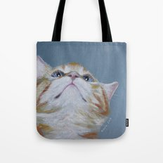 Juno. The Bird Catcher. Pastel Kitten Tote Bag