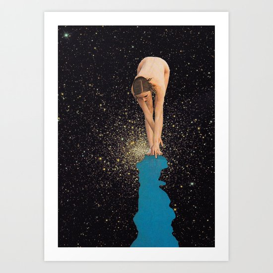 Globular Girl Art Print