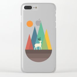 Step Of Autumn Clear iPhone Case