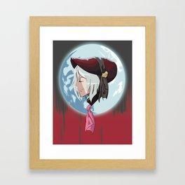 Doll in the moonlight Framed Art Print