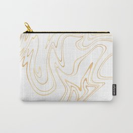 Liquid Gold Marble. Trendy golden ink marbling texture. Suminagashi art. Clear iPhone Case Carry-All Pouch