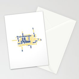 Python Wordcloud Classic Premium Stationery Cards