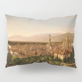View of the Duomo and Florence, Italy by Thomas Cole Pillow Sham