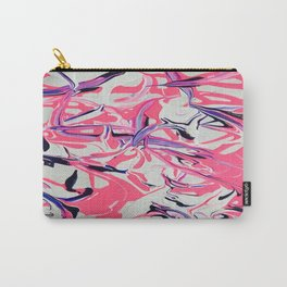 Pink & Purple Paint Drools Carry-All Pouch