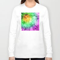 tie dye Long Sleeve T-shirts featuring Colorful Tie Dye Design by Phil Perkins