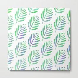 Modern Tropical Leaf Pattern Metal Print