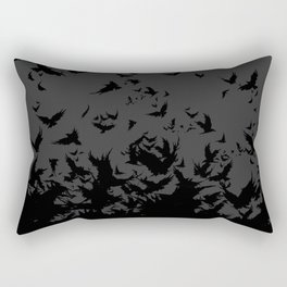 An Unkindness of Ravens (Grey) Rectangular Pillow