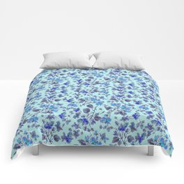 Blue Roses Comforters