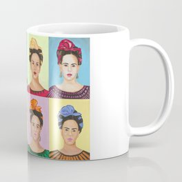 Frida Kahlo Inspired Colorful Pop Art Painting Coffee Mug