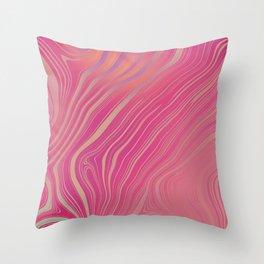 BLUSH - bubblegum pink & hints of peach lilac Throw Pillow