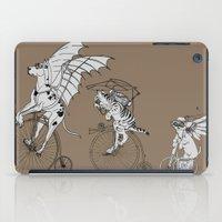 steam punk iPad Cases featuring Steam Punk Pets by Rebecca Pocai