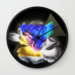 Dark Side of the Rose Wall Clock