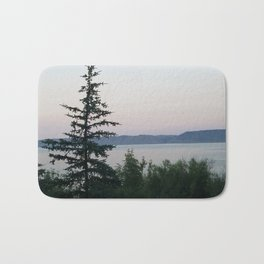 The Tree by the Lake Bath Mat