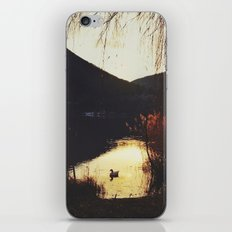 Sunset by the lake iPhone Skin