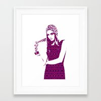 cara delevingne Framed Art Prints featuring Cara Delevingne by fashionistheonlycure