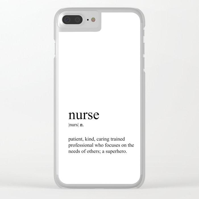 Nurse Definition Clear iPhone Case