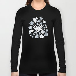 Cephalopods: Background Blue Long Sleeve T-shirt