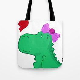 Dinogirl Tote Bag