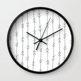 Grey, Steel: Arrows Pattern Wall Clock