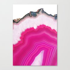 Pink Agate Slice Canvas Print