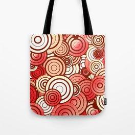 Layered random circles Tote Bag